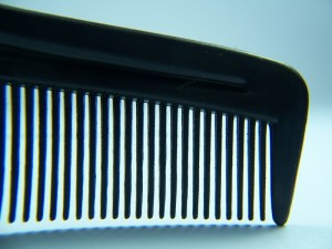 close-up of comb