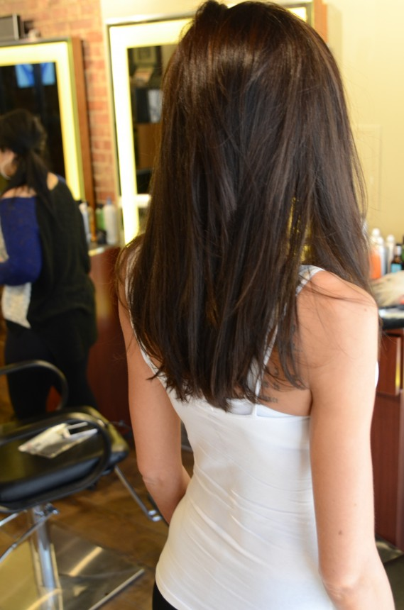 Gorgeous Brunette Hair Extensions Nyc Extensions Color Cut